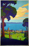 Poster  Evian les bains   Geo Francois   1926  PLM  Before The Letter