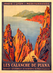 Poster  Les Calanche de Piana   PLM   French Railways  1923   Roger Broders