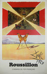 Poster Salvador   Dali   Roussillon French Railways   SNCf   1969