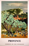 Poster   Provence   French Railways  SNCF  1967  Yves Brayer