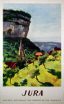 Poster Jura  SNCF 1947 Georges Pacouil
