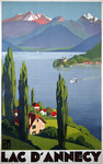 Poster Lac d'Annecy   PLM  1930  Roger Broders