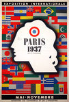 Affiche  Paris Exposition Internationale Mai Novembre   1937  Jean Carlu
