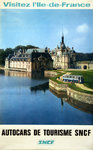 Poster   Visitez L'Ile de France   Chantilly   SNCF  1968