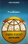 Poster  Toykyo Par le Pôle  Air France  1958  Escoffon