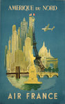 Poster  North America  Air France  1948   Luc Mary Bayle