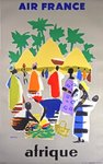 Poster Afrique    Air France   1958  Even