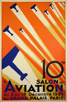 Poster 10e Salon de L'Aviation  Paris 1926   Roger De Valerio - Retirage