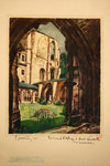 Affiche  Abbaye de St Vandrille  Les Ruines  SNCF  1933  Maurice Matossy