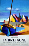 Poster  Visitez La Bretagne   French Railways   1958  Nathan Garamond