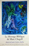 Poster   Chagall Marc  Le Message Biblique   Louvre Museum  Mollien Gallery  1967