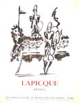 Poster  Lapique  Charles  Dessins Exposition  Villand Galanis Paris   1962