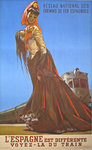 Vintage Poster   Spanish  Railways  Spain is   Different   1961