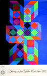 Original Poster  Olympic Games  Munich  1972  Vasarely  Victor