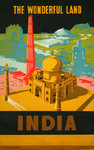 Poster  India  The Wonderfull Land   1958  Annonymous