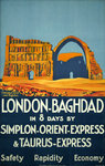 Affiche  London Baghdad  par Simplon Express 1931  Roger Broders