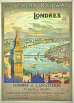 Poster  Londres  Southern Railway  Londres  et l' Angleterre  1925 Anonymous