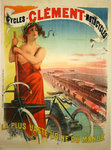 Affiche  Cycles Clément  Motocycles  1890  Pal