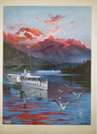 Poster Le Lac D'Annecy   PLM  1905  Hugo D' Alesi    Before the Letter
