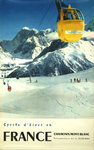 Affiche    Chamonix  Mont Blanc France    1956    Photo Gay Couttet