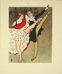 Lithographie   Moulin  Rouge   Monsieur et Madame   1925 Georges   Van Houten
