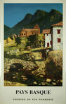 Poster   Pays Basque  SNCF  1968    Roland Oudot