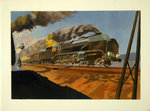 Lithography   Fast  Train   South  East  Crossing a  240 P   1939    E  André Schefer 1944