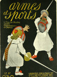 Poster    Magazine Cover    Armes et Sports   1930  Fencing