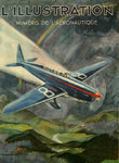 Poster  Magazine Cover    L'Illustration  L'Aeronautique 1934   Geo Ham