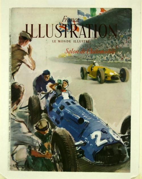 Affiche couverture l 39 illustration salon de l 39 automobile - Affiche salon de l auto ...