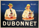Poster Jean Carlu    Dubonnet  He and She   1924