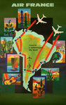 Poster     Air france    All The America     1965    Nathan  Garamond