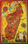 Poster  Madagascar  Pictorial Map  1952   Maurice Tranchant