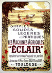 Poster    Les Machines Agricoles Eclair   Circa 1930   Anonymous  Champenois