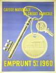 Poster   Caisse Nationale Credit Agricole   Emprunt 5%  1960  Tauzin