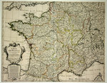Poster  Map of France Set for the King 1721  Guillaume Delisle