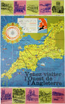 Poster; Map ; Come Visit West of England ; Circa 1960