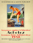 Poster  Buy The New Ant TB Stamp  1938   R  Serres