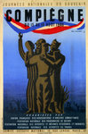 Poster  Compiégne  1946  National Day of Remembrance   Guy  Georget