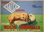 Poster  Balanced Feed  Sacca  For All Animals  Circa 1940