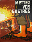 Poster   Put Your Gaitres   1970   Le Guillerm   INRS
