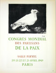 Lithography Picasso  Congres  Mondial  Paix  1959  Original Posters Masters  of School of Paris 1952