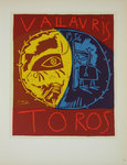 Lithography  Picasso  Toros en Vallauris 1956  Original Posters Masters of School of Paris 1959