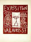 Lithography  Picasso Exposition Vallauris  1957   Original Posters Masters of School of Paris 1959