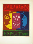 Lithography r Picasso Exposition  Vallauris 1956  Original Posters Masters of School of Paris 1959