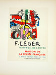 Lithography  Leger  Fernand   Oeuvres Récentes  1954 Poster Masters of Scool of Paris 1959