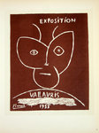 Lithography  Picasso  Exposition Vallauris  1955  Original Posters Masters of School of Paris 1959
