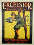 Affiche  Exelsior  1 er  Quotidien Illustré De Losques   1910