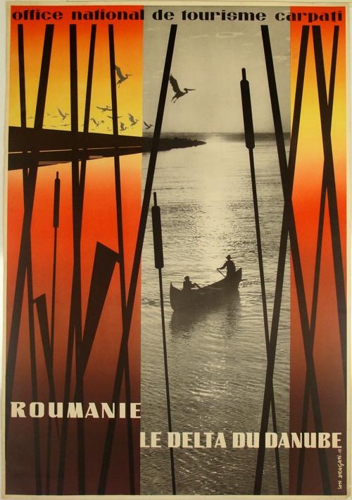Affiche roumanie le delta du danube office national du - Office national du tourisme luxembourg ...