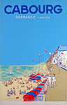 Affiche  Normandie  Cabourg  France   Circa 1950   Simone Duval Wenta